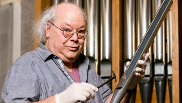 Christoph Enzenhofer ist einer der größten Meister des Orgelbaus. Der besondere Klang seiner Orgeln ist nicht zuletzt seinem exzellenten Gehör geschuldet. (Bild: Mathis Fotografie)