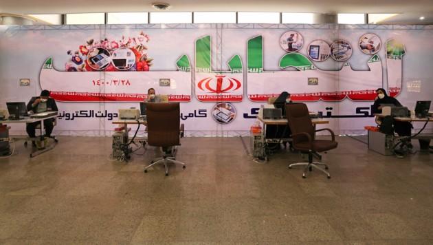 Ein Wahllokal in Tehran (Bild: ATTA KENARE / AFP)