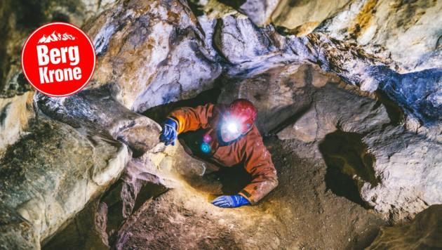 Große Hallen und enge Löcher - all das findet man in Kärntens Höhlen (Bild: Hannes Wallner)