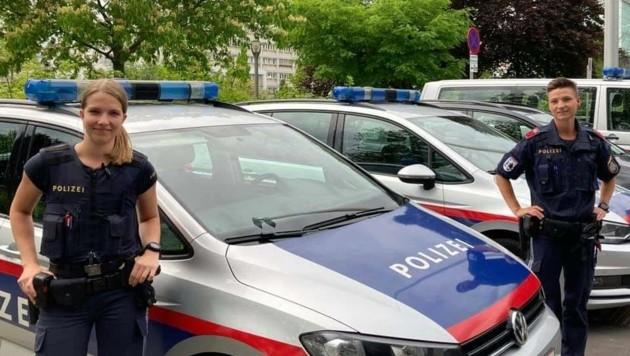 Viola und Irina von der PI Hauptbahnhof sind Lebensretter (Bild: LPD OÖ)