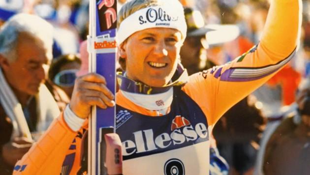 Selbst in der Stunde seines größten Sieges 1991 in Saalbach blieb Rudi Nierlich der bescheidene Bub aus St. Wolfgang. (Bild: Markus Wenzel)