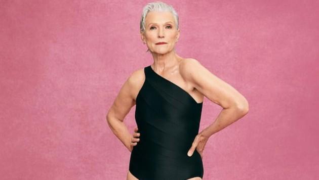Maye Musk modelt Badeanzug (Bild: Summersalt)