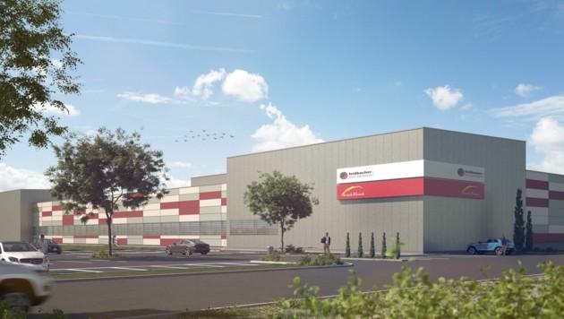 Rendering: 15 Millionen Euro werden in den Neubau investiert (Bild: Snack & Back)