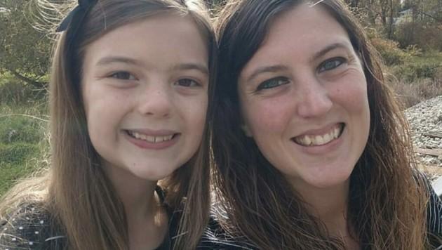 Mutter Lindsay Abbuhl mit ihrer Tochter Rylee (8) (Bild: facebook.com)