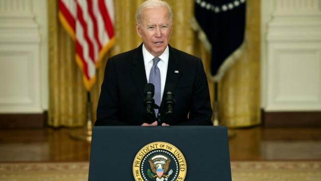 Joe Biden war Ende April 100 Tage im Amt. (Bild: Anna Moneymaker / GETTY IMAGES NORTH AMERICA / Getty Images via AFP)