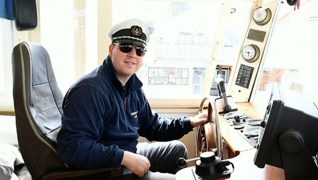 Kapitän Roman Drescher aus Mörbisch übernimmt am Mittwoch persönlich das Kommando über seine Flotte. (Bild: P. Huber )