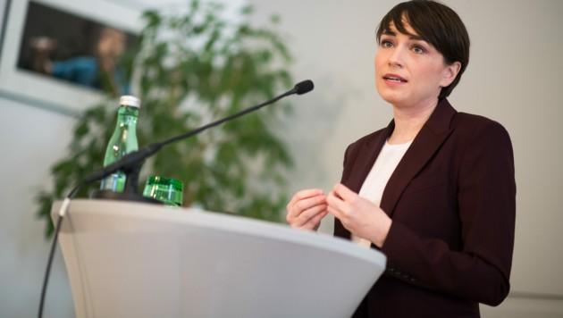 """Grünen-Klubobfrau Sigrid Maurer: """"Wir sind in einer Koalition, wir haben große Verantwortung übernommen."""" (Bild: APA/MICHAEL GRUBER)"""