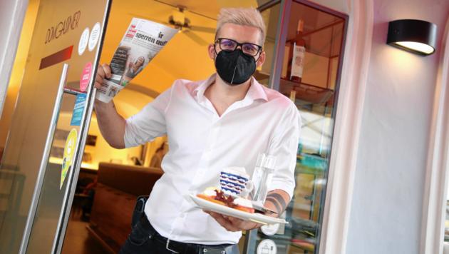 Willkommen im Café - heute öffnen Gastronomie-Betriebe wieder! (Bild: Evelyn HronekKamerawerk)