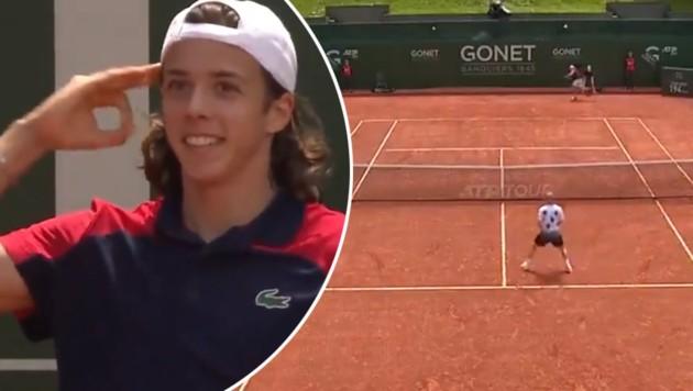 Arthur Cazaux (Bild: twitter.com/TennisTV)