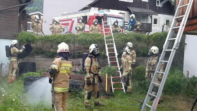 Gasflasche brannte - Einsatz für die Feuerwehr Bischofshofen (Bild: FF Bischofshofen)