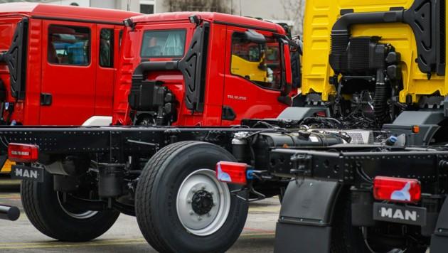 Die Lkw-Produktion wurde zuletzt gedrosselt, der MAN-Konzern will das Werk in Steyr bis Ende 2022 schließen. (Bild: Markus Wenzel)