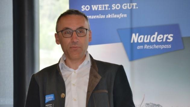 Versprühte nicht nur Zweckoptimismus, sondern glaubhaften: Vorstand Karl Stecher (Bild: Daum Hubert)