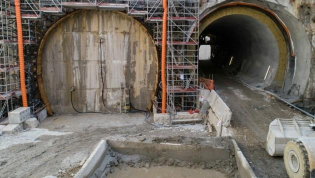 Das südlichste Baulos des Brennerbasistunnels (BBT) in Franzensfeste in Südtirol (Bild: APA/BBT SE)