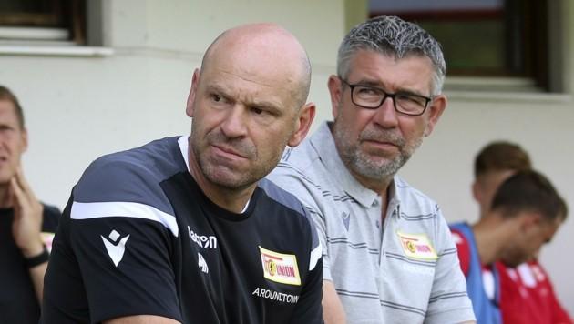Markus Hoffmann (li.) und Union-Cheftrainer Urs Fischer (re.). (Bild: Tröster Andreas)