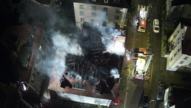 Bei dem Brand kam ein Mann ums Leben. (Bild: Kapo St. Gallen)