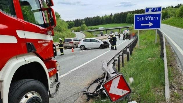 Schwerer Unfall (Bild: Einsatzdoku-Lechner)