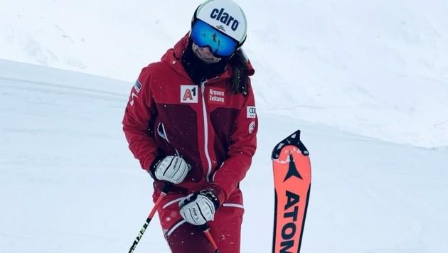 ... während Mirjam Puchner mit der Weltcup-Speedgruppe schon in Sölden auf Schnee stand. (Bild: Puchner)