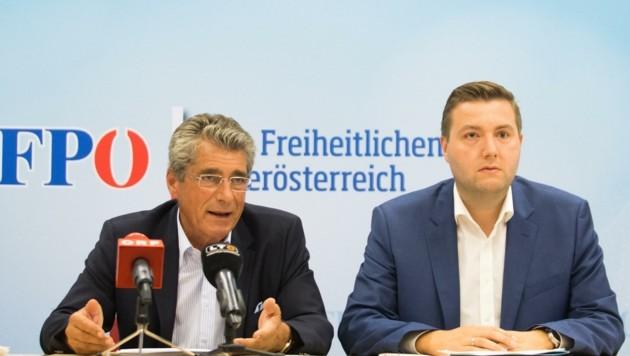 Herwig Mahr und Michael Raml (FPÖ) (Bild: FPOÖ-Klub)
