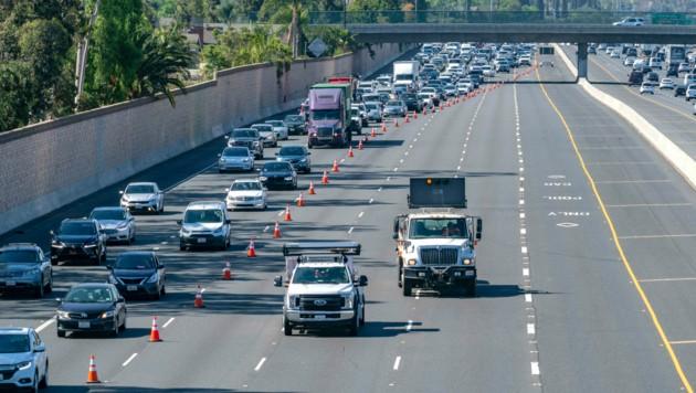 Auf dieser Autobahn in Kalifornien soll sich die Tat ereignet haben. (Bild: AP)