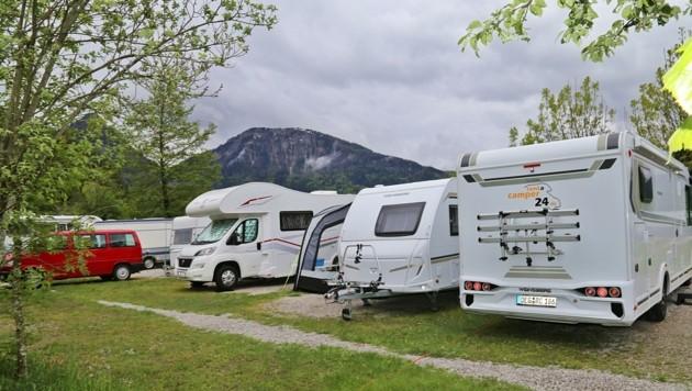 Camper ließen sich vom Schlechtwetter nicht abschrecken (Bild: Hörmandinger Reinhard)
