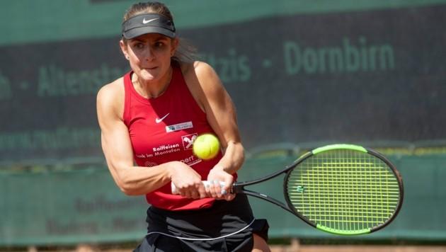 Bludenz-Matchwinnerin Mia Liepert punktete doppelt. (Bild: Maurice Shourot)