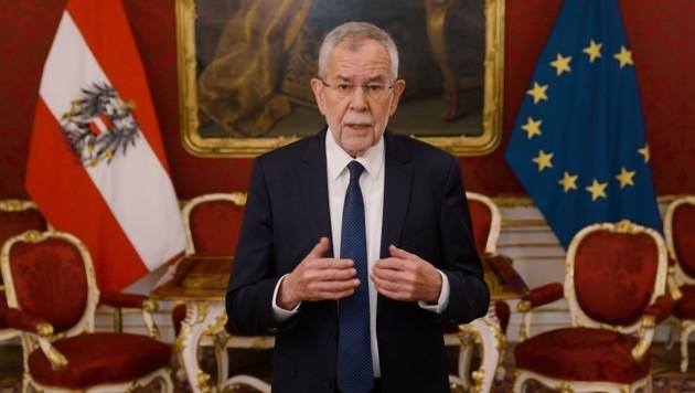 Der Bundespräsident schweigt nicht länger. Er mahnt Normalität ein. (Bild: Gottschling/PRK)