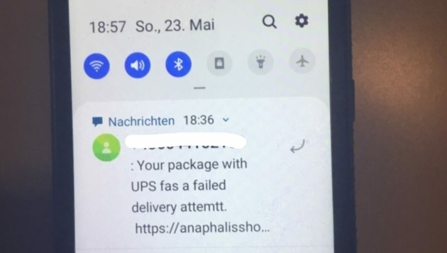 Die SMS kommen auf Deutsch oder Englisch. (Bild: zVg)