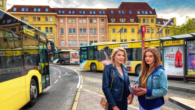 Noch ist der Heiligengeistplatz fast nur ein Bus-Umsteigeplatz... (Bild: Christian Tragner)