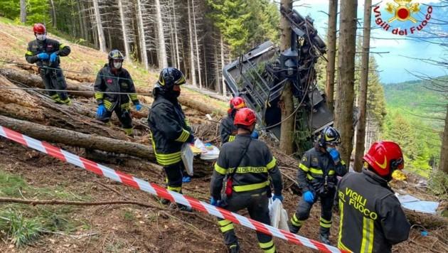 Das Unglück am Monte Mottarone schockiert (Bild: ITALIAN FIRE AND RESCUE SERVICE / HANDOUT)