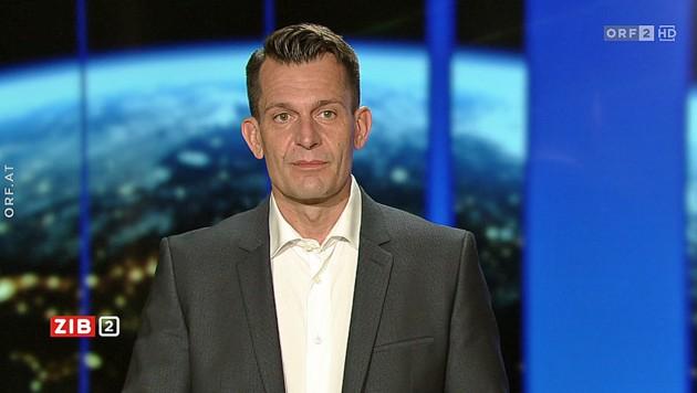 """Gesundheitsminister Wolfgang Mückstein am Montagabend in der """"ZiB 2"""" (Bild: ORF)"""