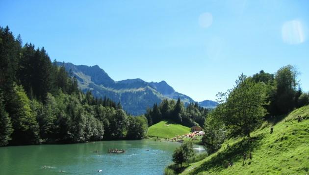Der Seewaldsee im Großwalsertal (Bild: Arnold Keckeis)