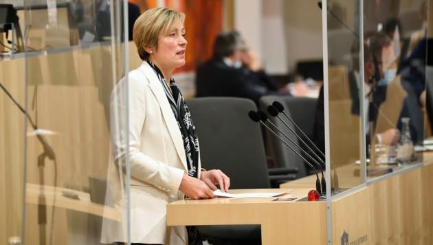 Der ÖVP-Politikerin Steinacker wird der Verdacht der Untreue und Vorteilsannahme vorgeworfen. (Bild: Parlamentsdirektion/Johannes Zinner)