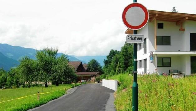 Die umstrittene Straße (Bild: zVg)