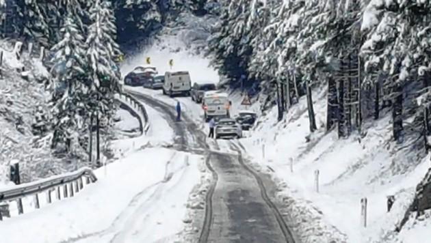 Schneefall am Katschberg - am Tag nach Pfingsten, Ende Mai! (Bild: Holitzky Roland)