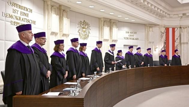 Urteilsverkündung am Verfassungsgerichtshof: Oft zu spät! (Bild: HANS PUNZ)