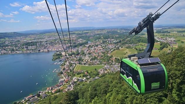 Auch am Grünberg bei Gmunden ist eine Pendelbahn im Einsatz. (Bild: Hörmandinger Reinhard)