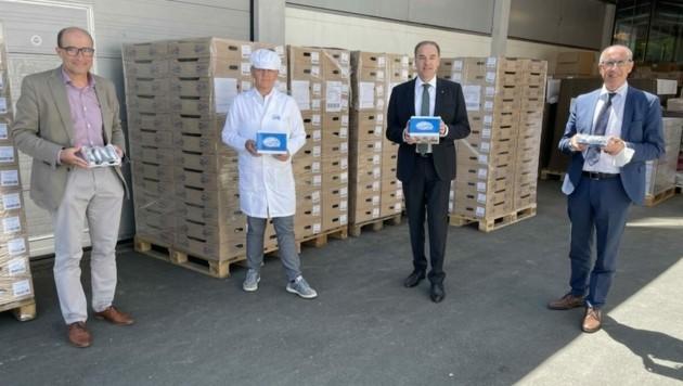 Zukunftspläne der Konditorei besprach Geschäftsführer Ulreich mit Landesrat Schneemann beim Betriebsbesuch in Pinkafeld. (Bild: Schulter Christian)