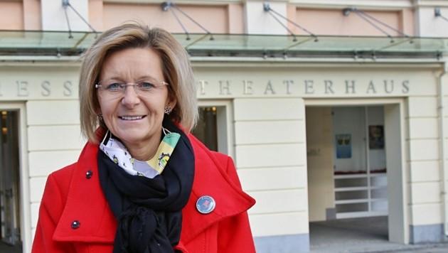 Bürgermeisterin Ines Schiller ist siegessicher (Bild: Marion Hörmandinger)