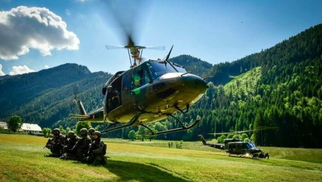 Die Ausbildung mit Hubschraubern ist die Kernkompetenz des Jägerbataillons 25 aus Klagenfurt. (Bild: Bundesheer/Michael Steinberger)