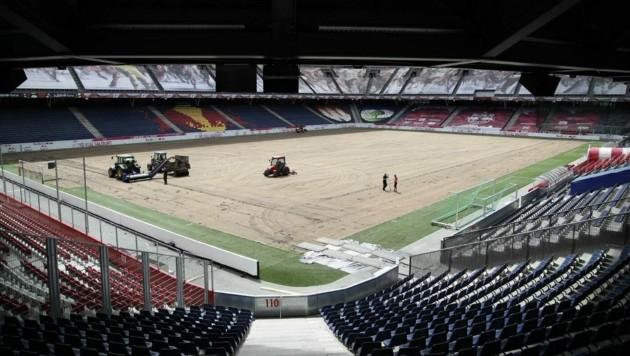 Kaum wiederzuerkennen: Die Red Bull Arena. (Bild: Andreas Tröster)