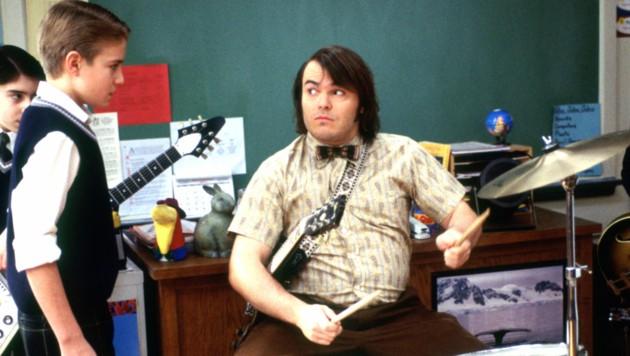 "Kevin Clark mit Jack Black in ""School of Rock"" (Bild: Everett Collection / picturedesk.com)"