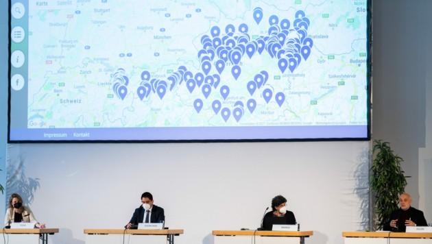 Mehr als 600 muslimische Einrichtungen werden auf der Islam-Landkarte angeführt. (Bild: APA/GEORG HOCHMUTH)