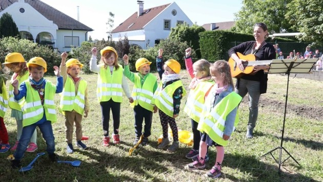 Auch die Kleinsten freuen sich in Purbach schon auf ihren neuen Kindergarten (Bild: Judt Reinhard)