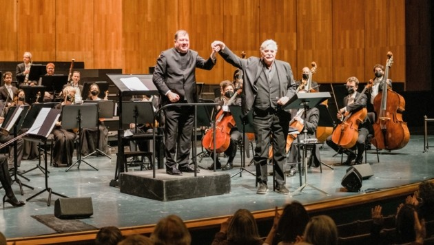 Zwei Große ihres jeweiligen Fachs: Dirigent Ivor Bolton und Schauspieler Peter Simonischek (Bild: peachesandmint)