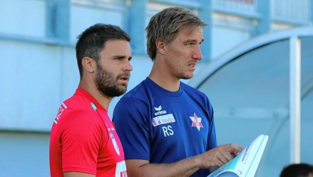 GAK-Manager Didi Elsneg (l.) bastelt am Kader für die neue Saison. (Bild: Pressefoto Scharinger © Daniel Scharinger)