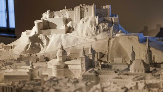 Highlight der neuen Panorma-Tour ist das 3D-Modell der Salzburger Altstadt aus Salz. (Bild: Tschepp Markus)
