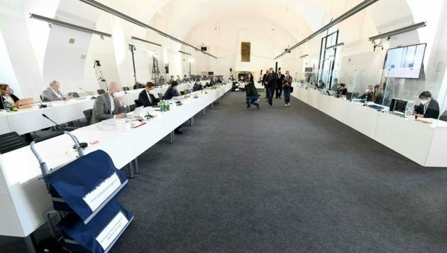 Am Freitag tritt der Ibiza-U-Ausschuss ein letztes Mal zusammen und widmet sich dem Abschlussbericht. (Bild: APA/Helmut Fohringer)