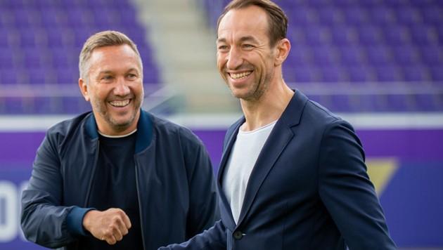 Austria geht mit Sportdirektor Manuel Ortlechner (r.) und Trainer Manfred Schmid in die nŠchste Fu§ball-Saison. Beide erhielten einen Vertrag bis 2023 plus Option auf ein weiteres Jahr. (Bild: FK AUSTRIA WIEN/FK AUSTRIA WIEN)