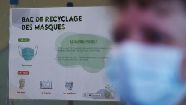 Die Franzosen blicken mit Sorge auf den Westen des Landes, wo sich eine neue Variante des Virus ausbreitet. (Bild: AFP/Eric PIERMONT)