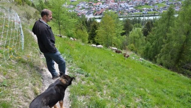 Thomas Schranz findet seinen Seelenfrieden auf den Hängen unter der Burg Laudeck in Ladis (Bild: Daum Hubert)
